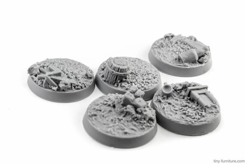 dwarven forge Village road Miniature tabletop furniture warhammer Bases 25mm D/&D dungeon decor