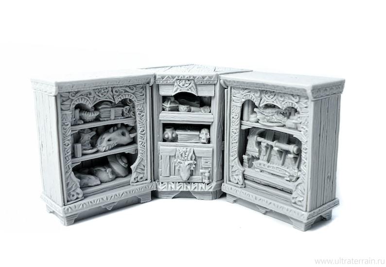 pathfinder dungeon decor dwarven forge painted D/&D warhammer - Miniature tabletop furniture Beast hunter reading corner