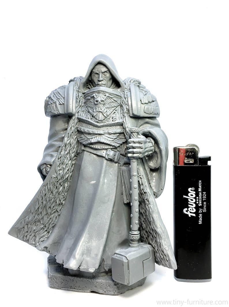 dwarven forge warhammer Paladin statue D/&D pathfinder dungeon decor Miniature tabletop furniture