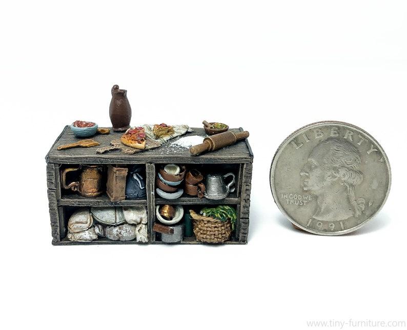 28mm Pathfinder D/&D Kitchen Island dungeon decor Frostgrave painted - Miniature tabletop furniture