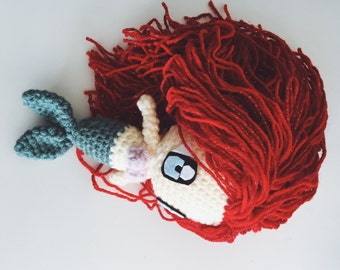 Handmade, Ariel doll // stuffed toy // The Little Mermaid // amigurumi doll // perfect gift for children