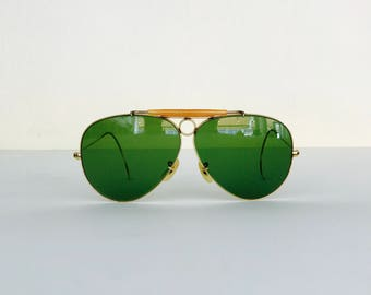 901134a59b Items similar to Vintage Ray Ban Bausch and Lomb W1506 Diamond Hard ...