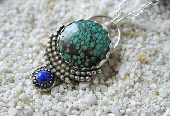 leopard print turquoise stones Handmade Bohemian Choker
