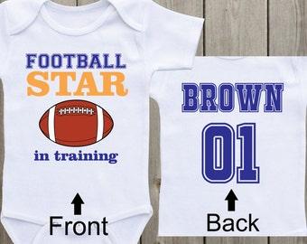 Football Star Baby Onesie Baby Boy Onesie Newborn Onesie Football Onesie Sports Custom Shirt Baby Boy Shirt Baby Shower Gift Baby Boy Gift