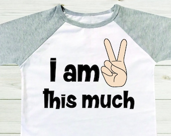 ac02e14d032 I am this much two year old boy shirt 2 years old shirt toddler boy outfit  cute toddler shirt Big brother shirt Little brother Baby Gift