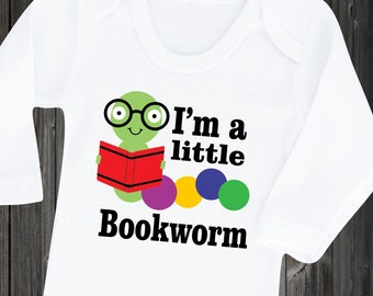 ce55cd14f62 Clearance Sale Baby Bodysuit Little Bookworm Cute Baby Shirt Funny Baby  Saying Gift for infant boy girl Unisex Baby Shower Gift Clothes
