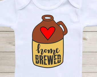 Home Brewed Baby Onesie Baby Boy Clothes Baby Girl Shirt Baby Onsie Baby Outfit Cute Funny Onesies Custom Baby Shower Gift For Girls Boys