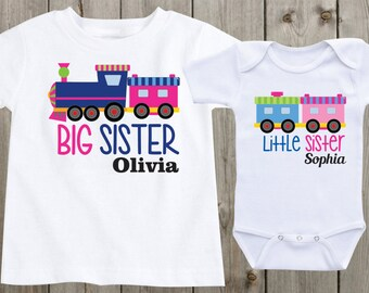 9c1e039367d Matching Shirts Baby Onesie Big Sis Little Sis Big Sister Little Sister  Shirts Personalized Shirts Custom Onesie Outfit Baby Shower Gift