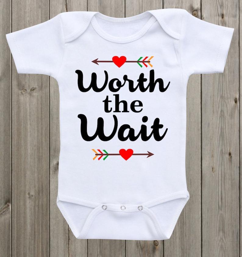 f87baefe6 Worth the Wait Baby Onesie Cute Onesie Baby Shower Gift Unisex | Etsy