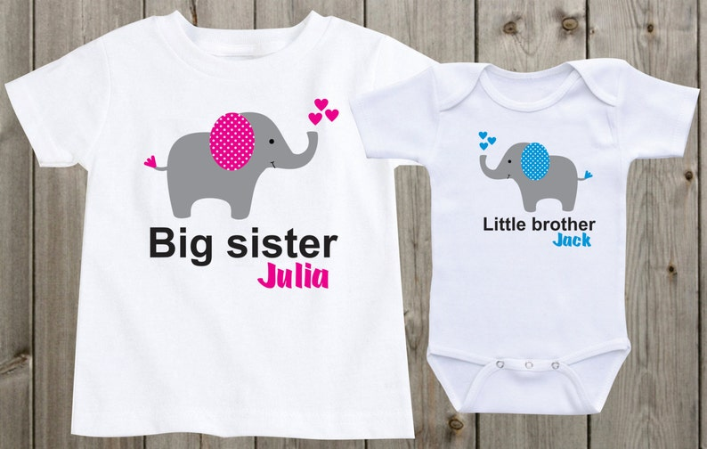 a635b153 Set of 2 shirts Big sister little brother matching shirts | Etsy