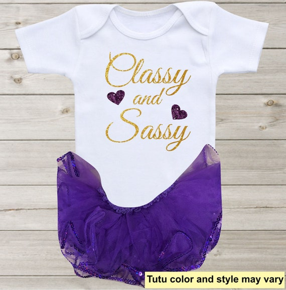 a221a58ab Classy and Sassy Baby Onesie Baby Girl Outfit Baby Clothes   Etsy