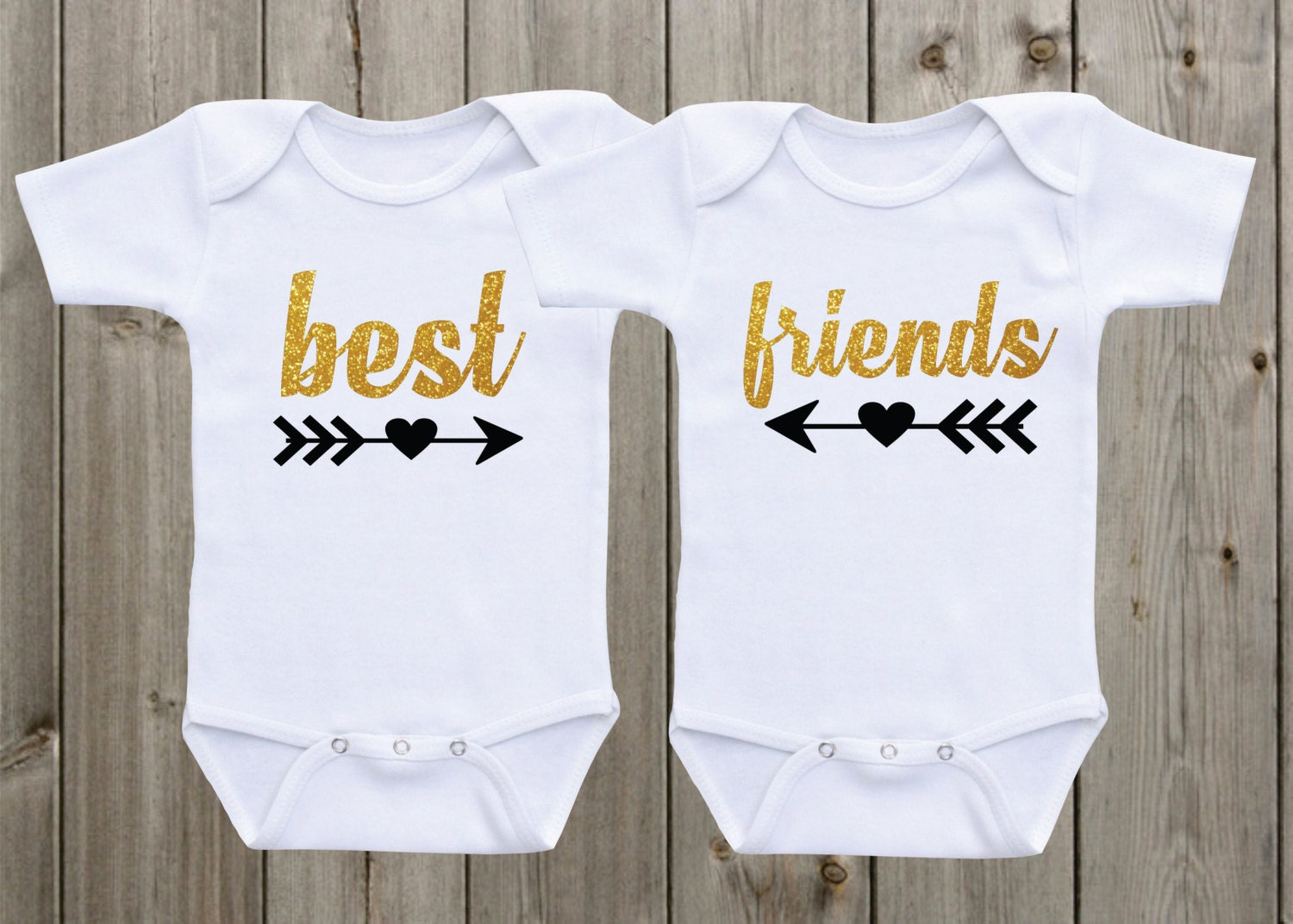 a11aaae1a37 Best Friends Twin Outfits Twin Onesie ® Set of 2 Twin Shirts
