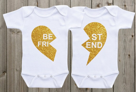 Best Friend Twin Onesies Matching Shirts Twin Outfits Twin Etsy