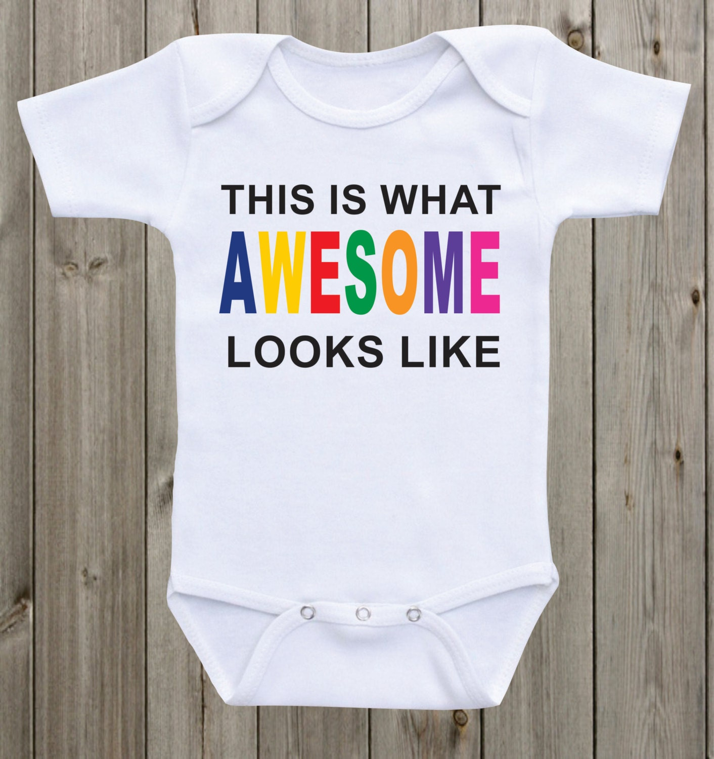 55bf3180c34d Awesome Baby Onesie Awesome Shirt Funny Baby Saying Newborn