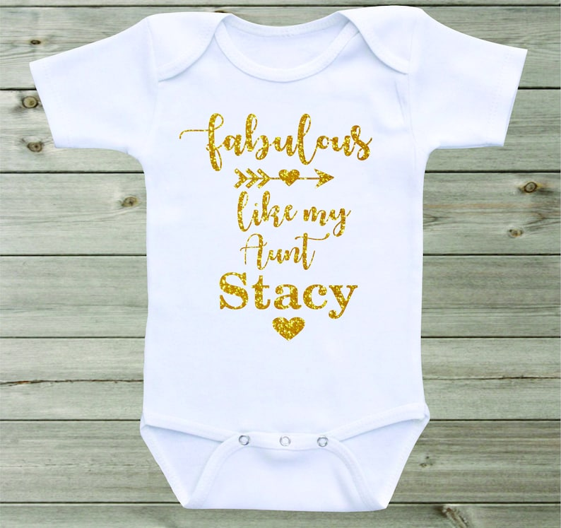 513ff982d Fabulous like my Aunt Baby Onesie Aunt Onesie Personalized | Etsy
