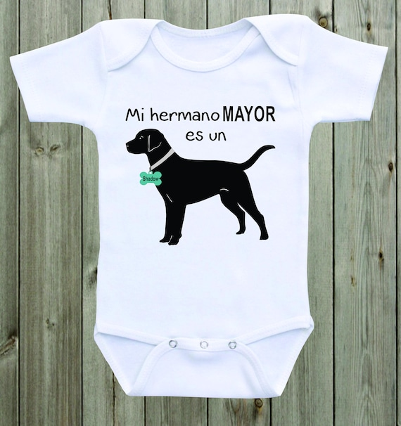 Black Labrador Onesie Dog Baby Bodysuit