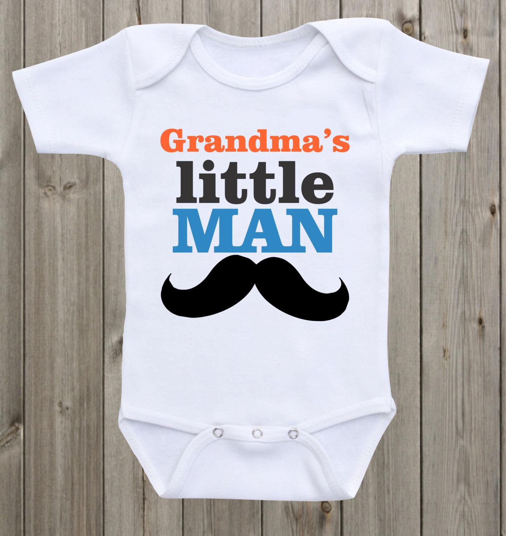 e954bf9e2a8f Grandma s Mom s Little Man baby onesie Baby boy onesie