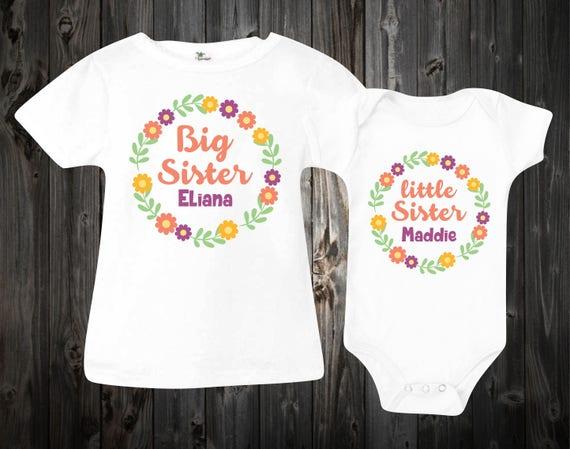 20f247365 Big sister little sister shirts Baby Onesie Custom Onesies