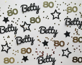 80th Birthday Party Personalized Confetti