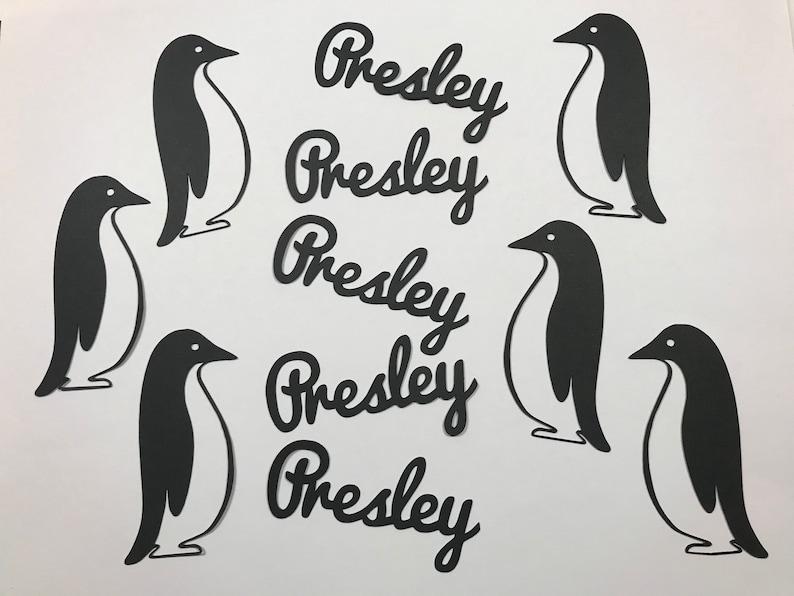 Personalized Penguin Confetti