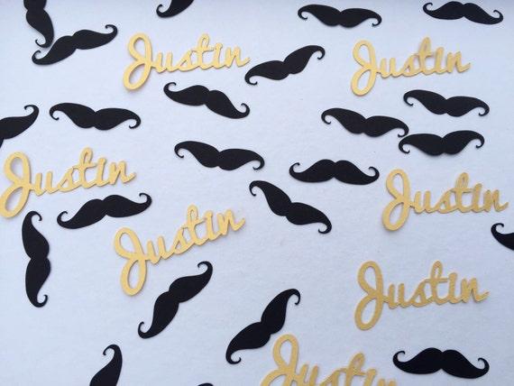 100 Pieces Mustache Confetti in Black