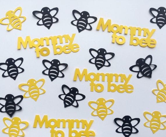 Bumble Bee Baby Shower Confetti Mommy To Bee Yellow And Etsy
