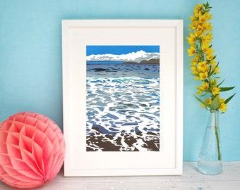 Ocean Waves Print - Ireland Landscape Art Print