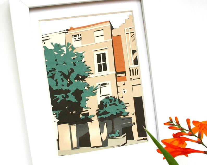 Papercut House Portrait  Personalised House Illustration  image 0