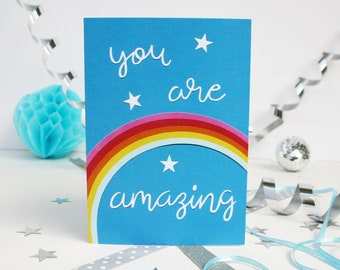 Rainbow Greetings Card - You Are Amazing