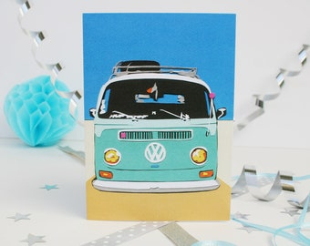 Campervan Birthday Card - VW Camper Greetings Card