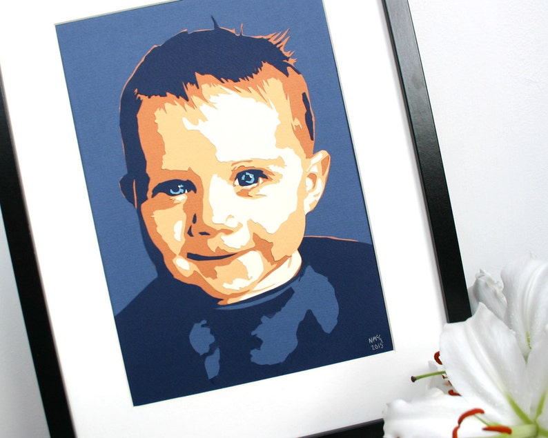 Papercut Baby Portrait  Personalised Mother's Day Gift  image 0