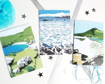 Achill Island Greetings Cards - Set of 3 Ireland Landscape Art Cards