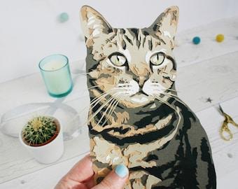 Custom Cat Illustration - Cat Portrait Papercut Art - Personalised Cat Memorial Gift