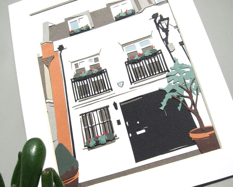 Papercut House Portrait  Custom Building Illustration image 0