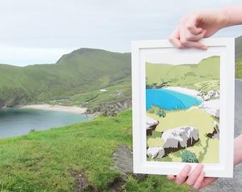 Achill Island Print - Keem Bay Landscape Art - Ireland Travel Print