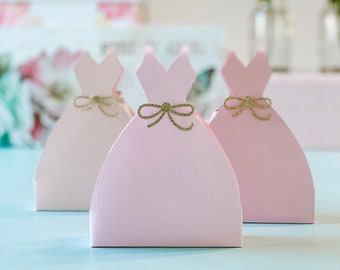 Princess Birthday Decorations, Pink Fairytale Birthday Favor Box, Pink Glitter Sweet 16 Party Ideas, Quinceanera Dress Box Decoration Ideas