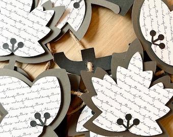 Fall Garland, Autumn Garland, Modern Fall Leaf Banner, Modern Autumn Leaf Banner