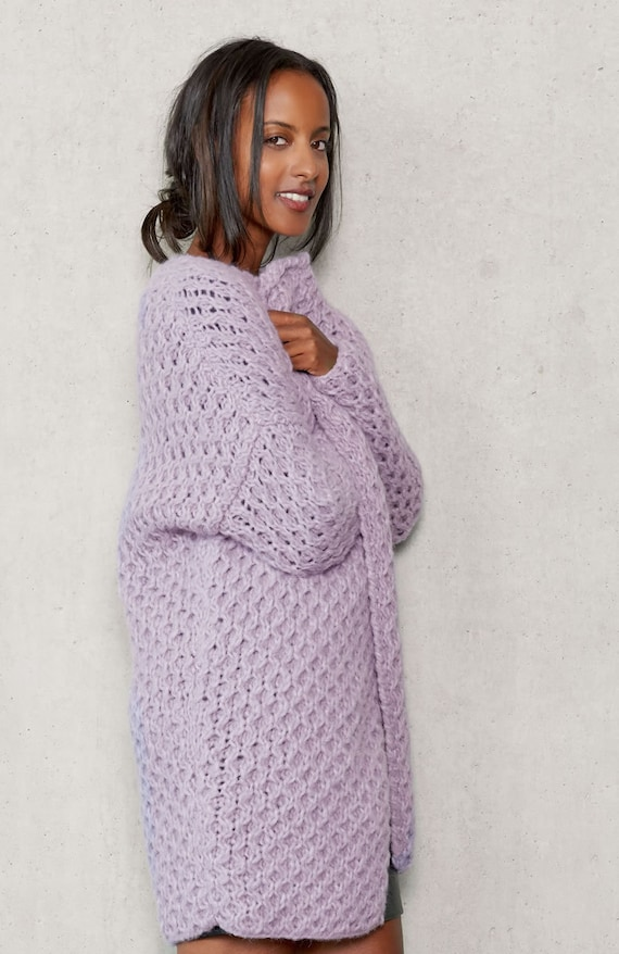 1541545a5 Hand knitted cardigan. Simple elegant. XS-S-M-L-XL.14 colors.