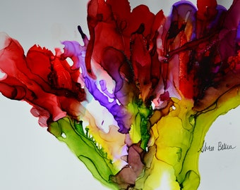 Tulips-Alcohol Ink Art