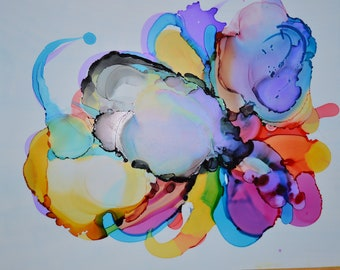 Flowers -Abstract Alcohol Ink Art