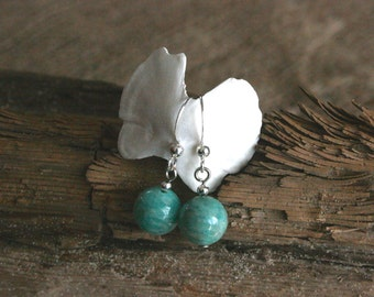 Arizona earrings, drop earrings, turquoise jewelry, amazonite earrings, turquoise earrings, green earrings, dainty earrings, trendy earrings