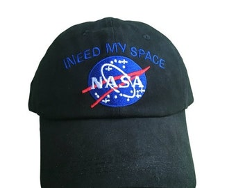 a890a73c7de NASA Logo I Need My Space Black Hat Cap Dad Hat Embroidered