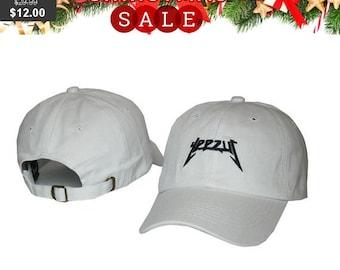 30b26f67cae Yeezus Hat Cap Yeezy Tour Kanye Embroidered Dad Hat Strapback White