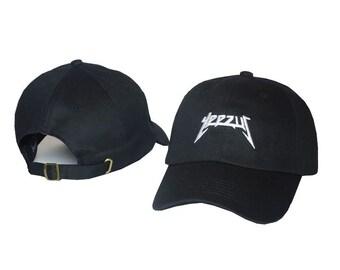8e5ef0f6f2b Yeezus Hat Cap Yeezy Tour Kanye Embroidered Dad Hat Strapback Black