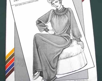 1984 Stretch-n-Sew In-Ann-Instant Pattern #5270 Women's Snuggler Bust Sizes Sm-Large Uncut