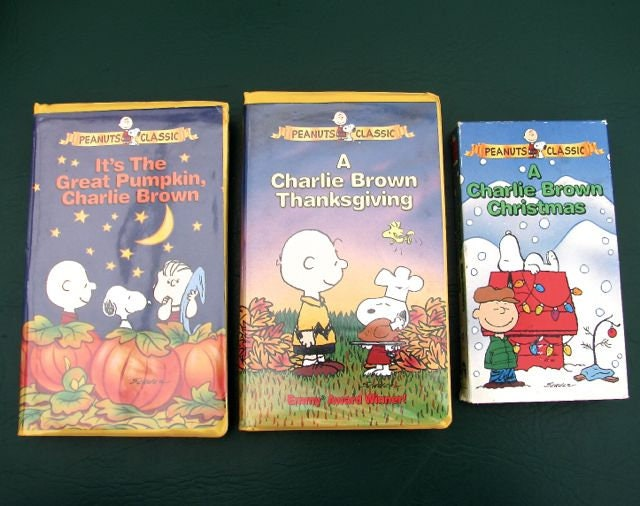 A Charlie Brown Christmas Vhs.3 Classic Charlie Brown Animated Vhs Tapes Great Pumpkin