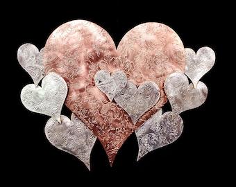 Metal Wall Art Heart Cloud #1575 SAVE 10% SEE BELOW* Steampunk Industrial Housewarming Wedding Birthday Valentine's Day Mother's Christmas