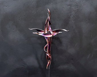 Metal Wall Art #1958 Copper Cross *SAVE 10% SEE BELOW* Industrial Décor Housewarming Birthday Anniversary Father's Mother's Day Christmas