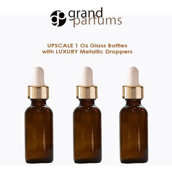 One 50ml Botella de cristal ámbar con cuentagotas pipetas Wilson Bottles Decoración del hogar