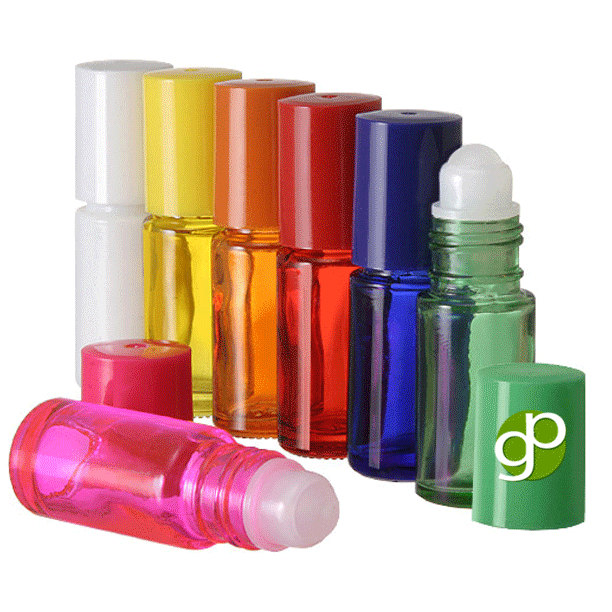 b4cdd6dec46d 50 5ml mini glass roll on bottles, roller tops, bottle caps in ...